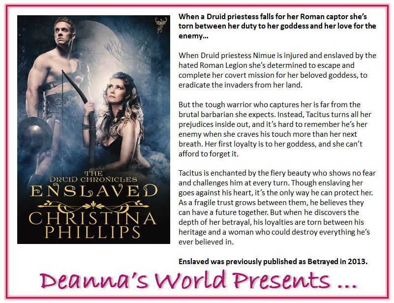 Enslaved by Christina Phillips blurb