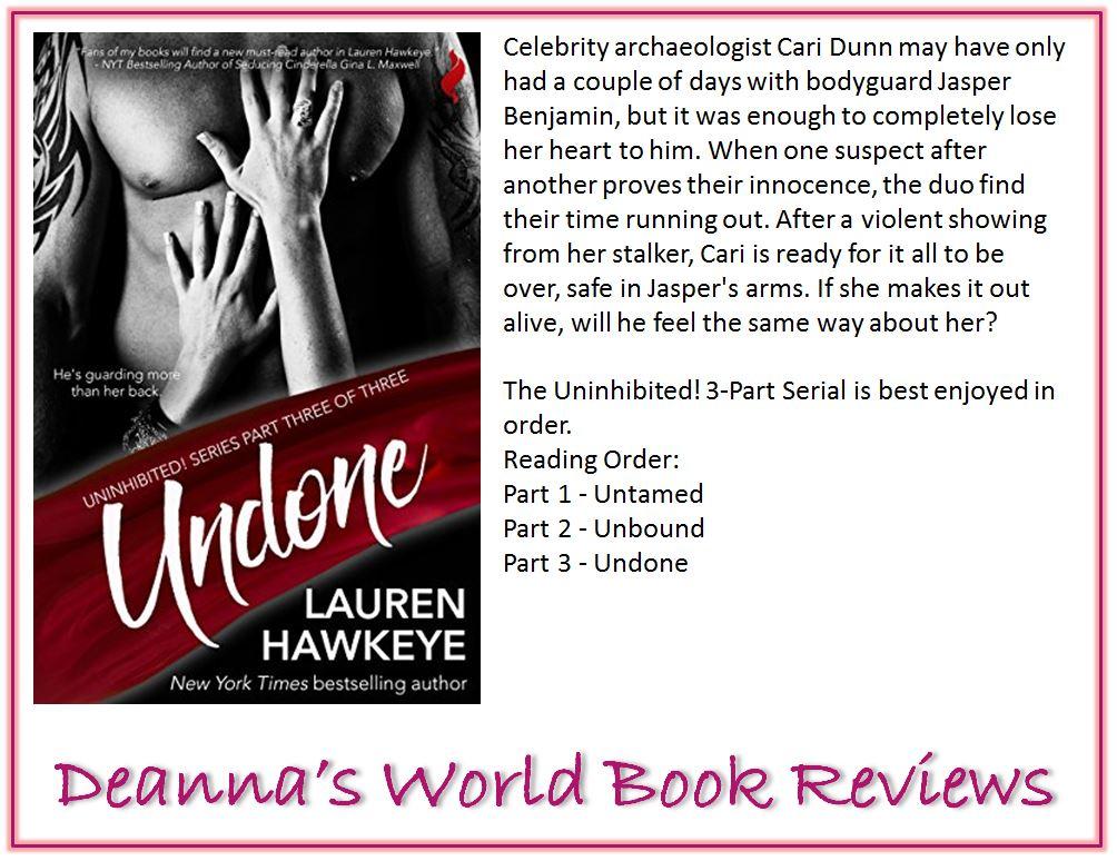Undone by Lauren Hawkeye blurb