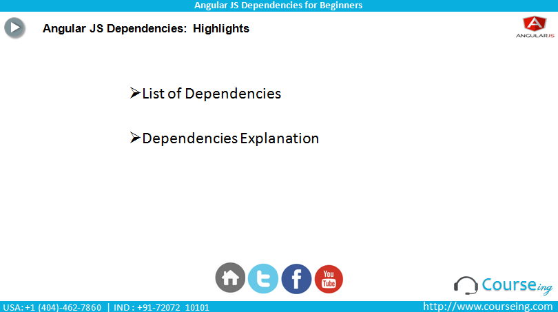 Here we can see the highlights of AngularJS 2 Dependencies highlights