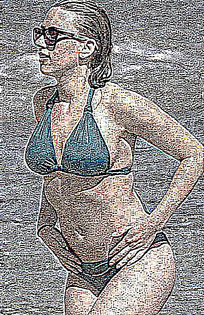 Femme nue en direct
