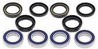 Both Front Wheel Bearings and Seals Kit Big Bear YFM350FW 4x4 1987-1999