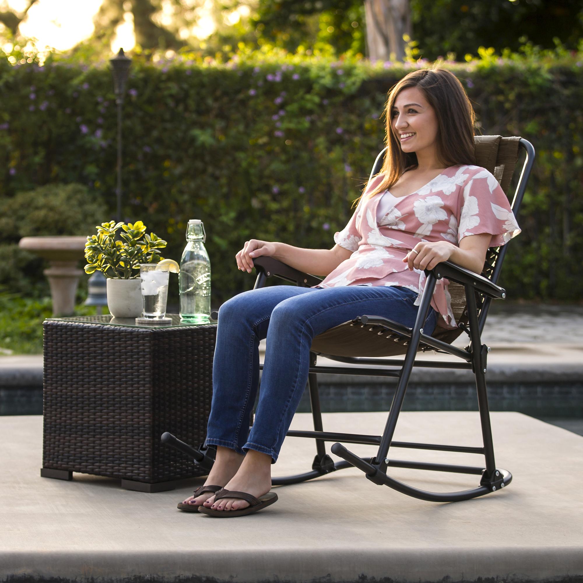 BCP-Foldable-Zero-Gravity-Patio-Rocking-Lounge-Chair thumbnail 30