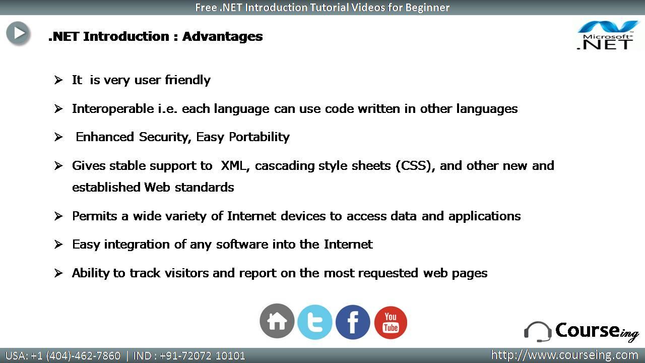 Dot Net Advantages