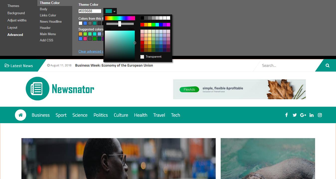 Newsnator Blogger Theme