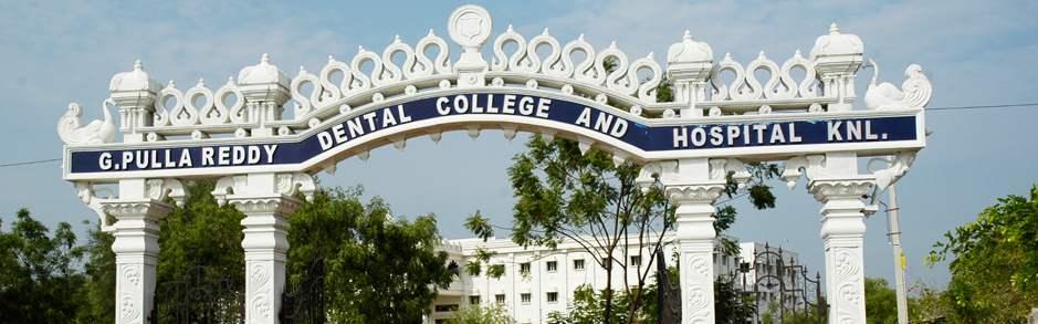 G. Pulla Reddy Dental College and Hospital, Kurnool