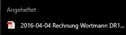 Für PDF verwende ich außerdem das Programm Adobe Acrobat und kann dort Dateien anpinnen
