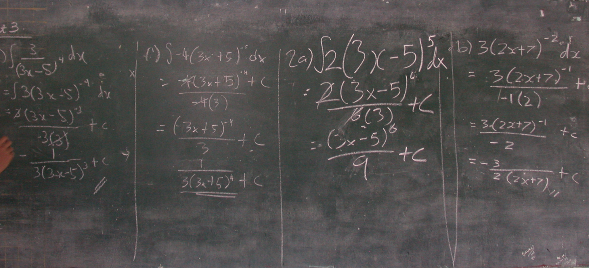 Math on blackboard