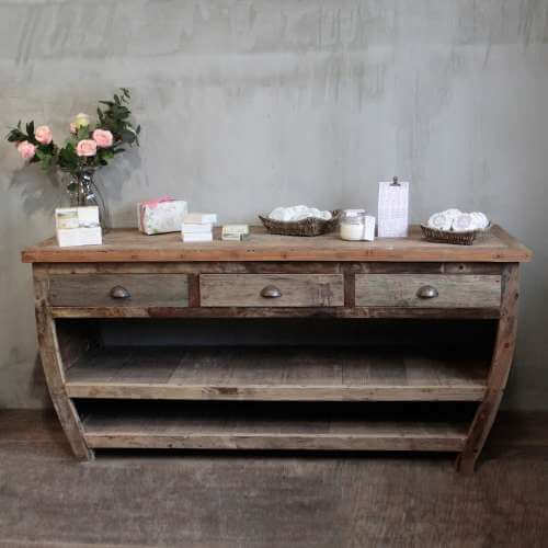 centerpiece table - recycled wood