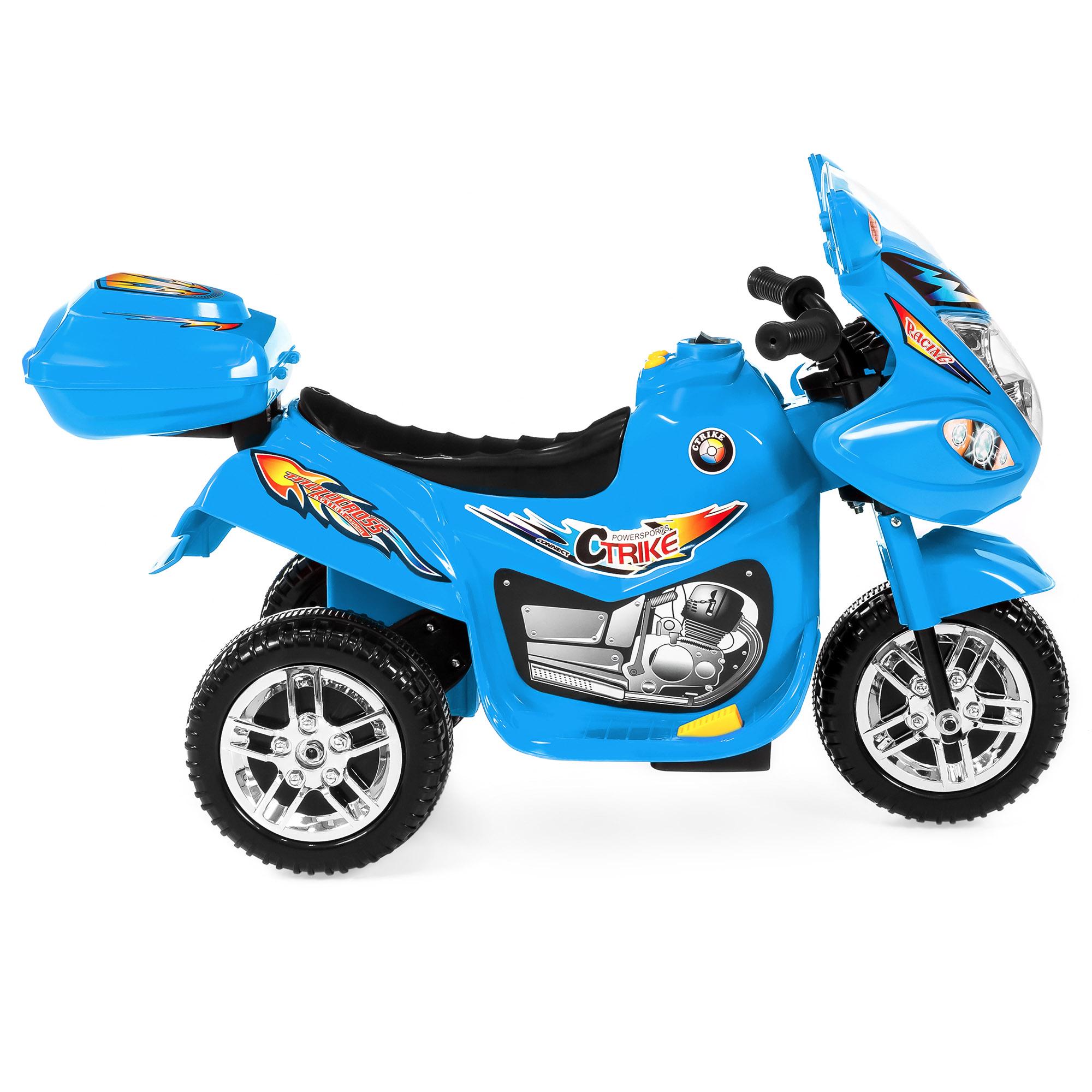 BCP-6V-Kids-3-Wheel-Motorcycle-Ride-On-Toy-w-LED-Lights-Music-Storage thumbnail 15