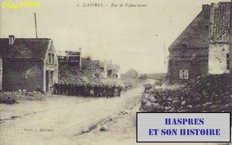 Haspres - Grand Place au lendemain de la première guerre mondiale