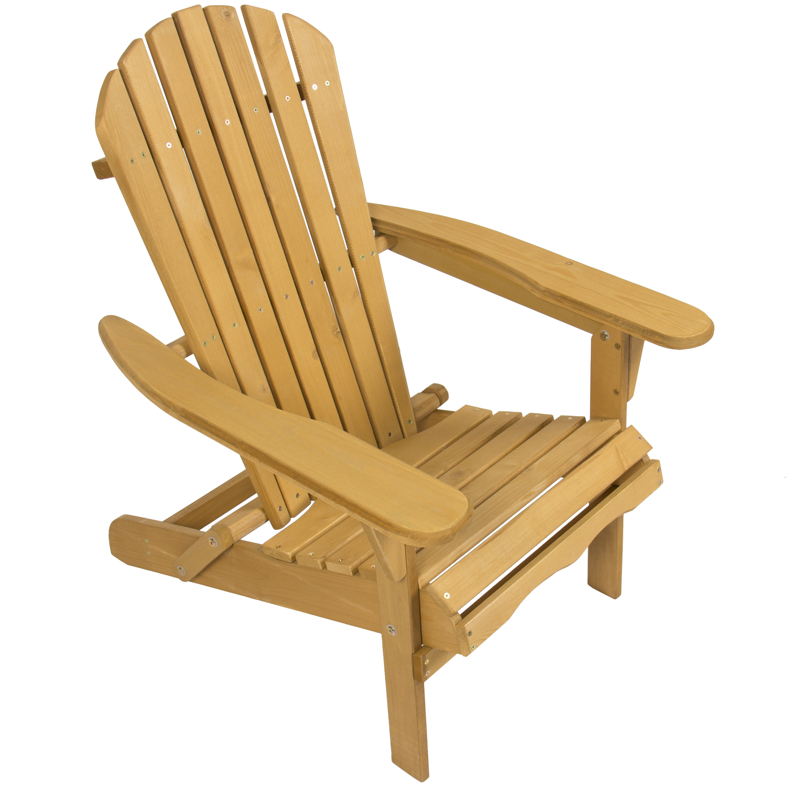 Bcp Foldable Wooden Adirondack Chair Natural Finish Ebay
