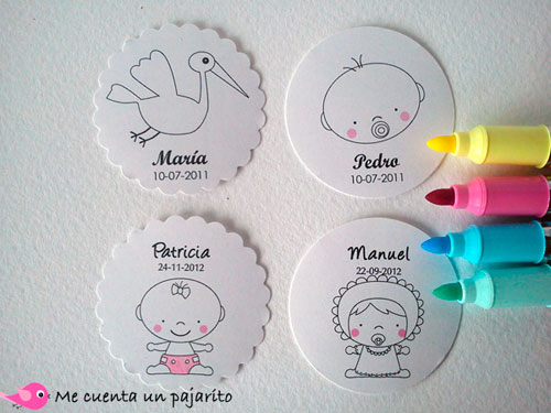 Etiquetas para colorear