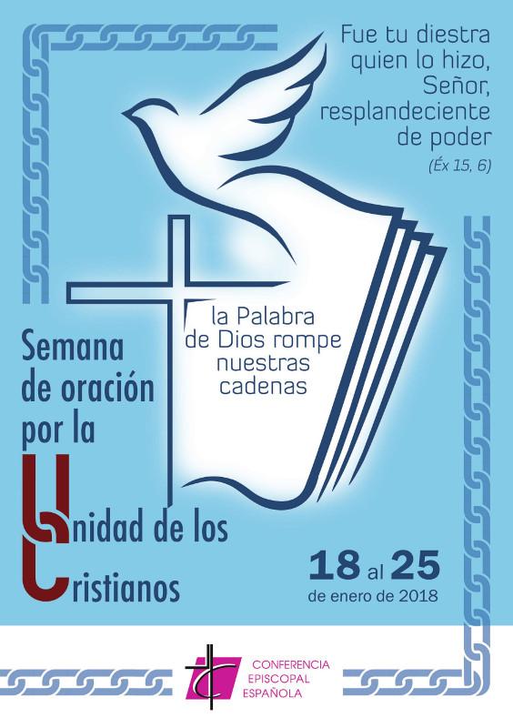 Cartel anunciador de la semana de oración por la unidad de los cristianos