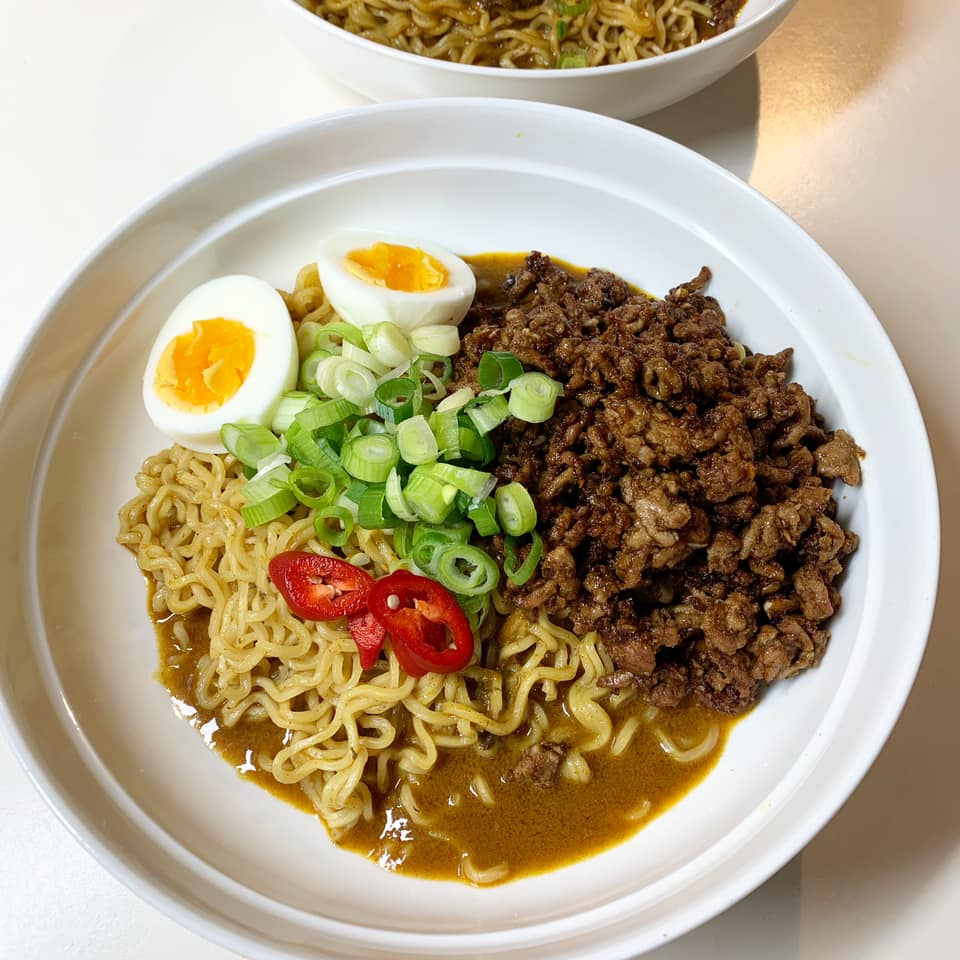 Easy leftover curry noodles