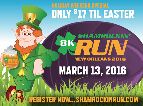 CLASSIC EASTER SPECIAL FROM SHAMROCKIN' RUN. REGISTER BY MIDNIGHT SUNDAY AT SHAMROCKINRUN.COM FOR ONLY $17!