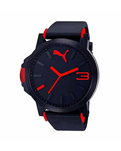 MyCross Mens Black Dial Analog Watch - Red
