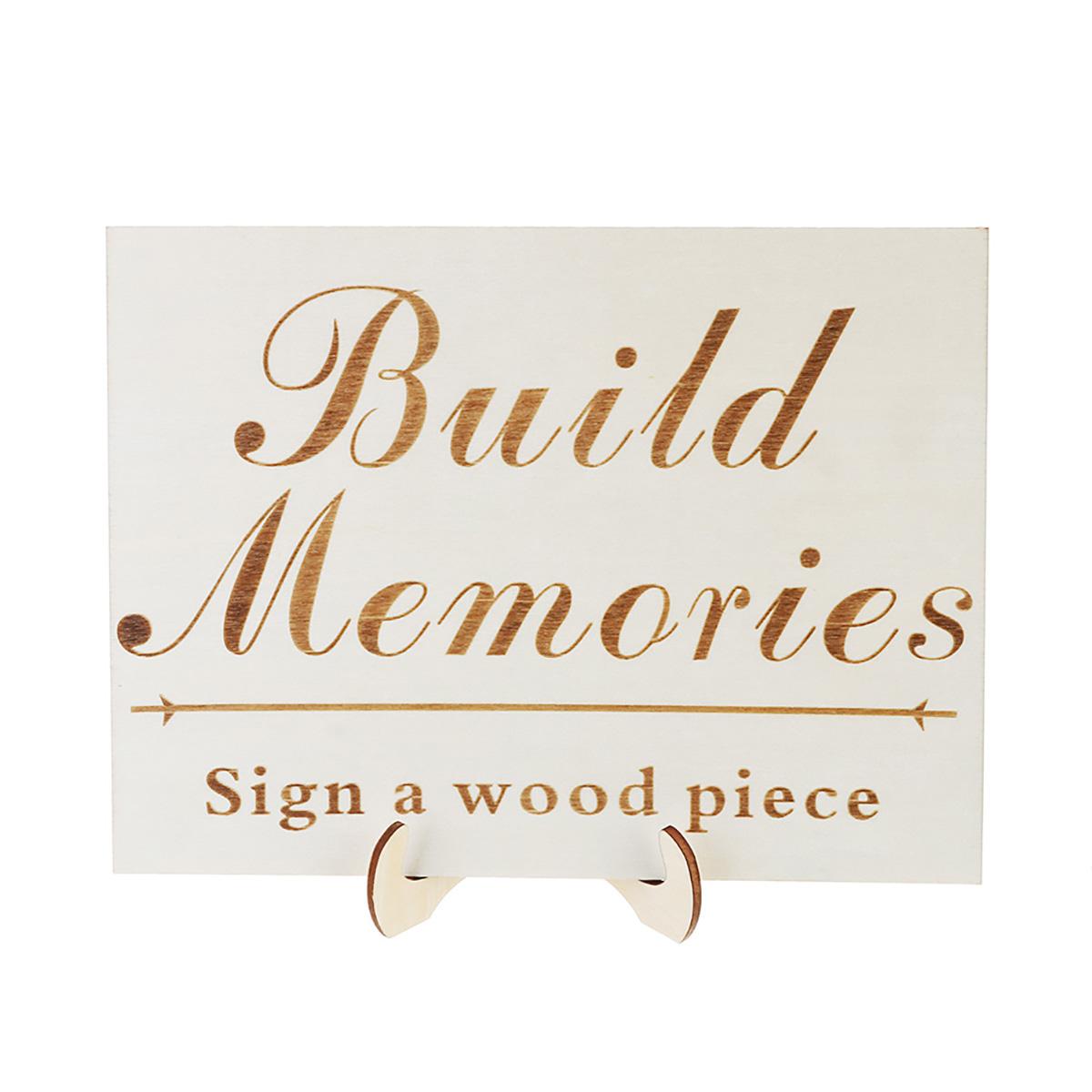 Wedding Guest Book Johannesburg: Wood Wedding Guest Signature Sign