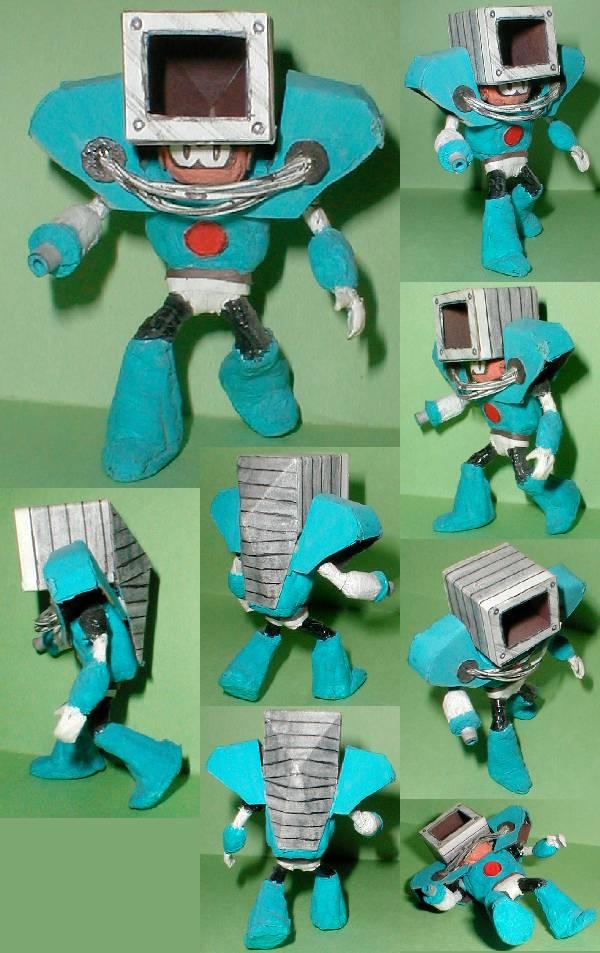 Dust Man photo collage.