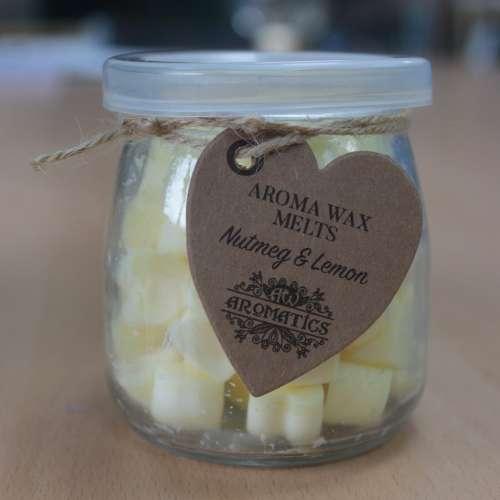 soy wax jar melts - nutmeg & lemon