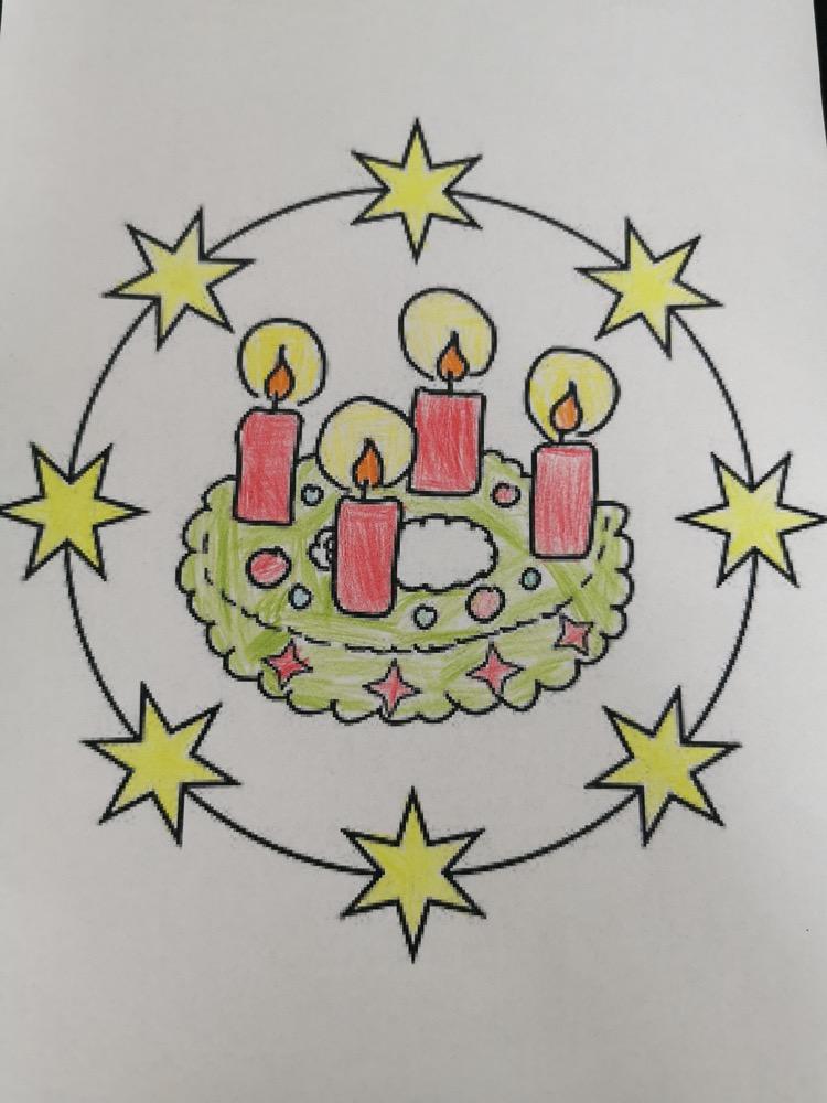Adventzeichnung