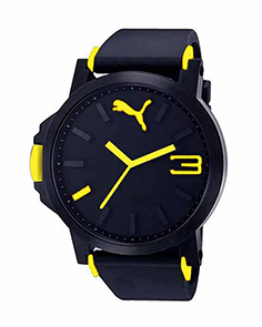 MyCross Mens Black Dial Analog Watch - Yellow