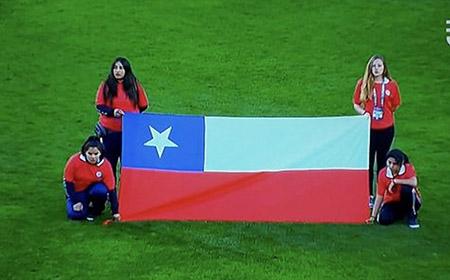 Bandera errónea de Chile en la Copa America 2018