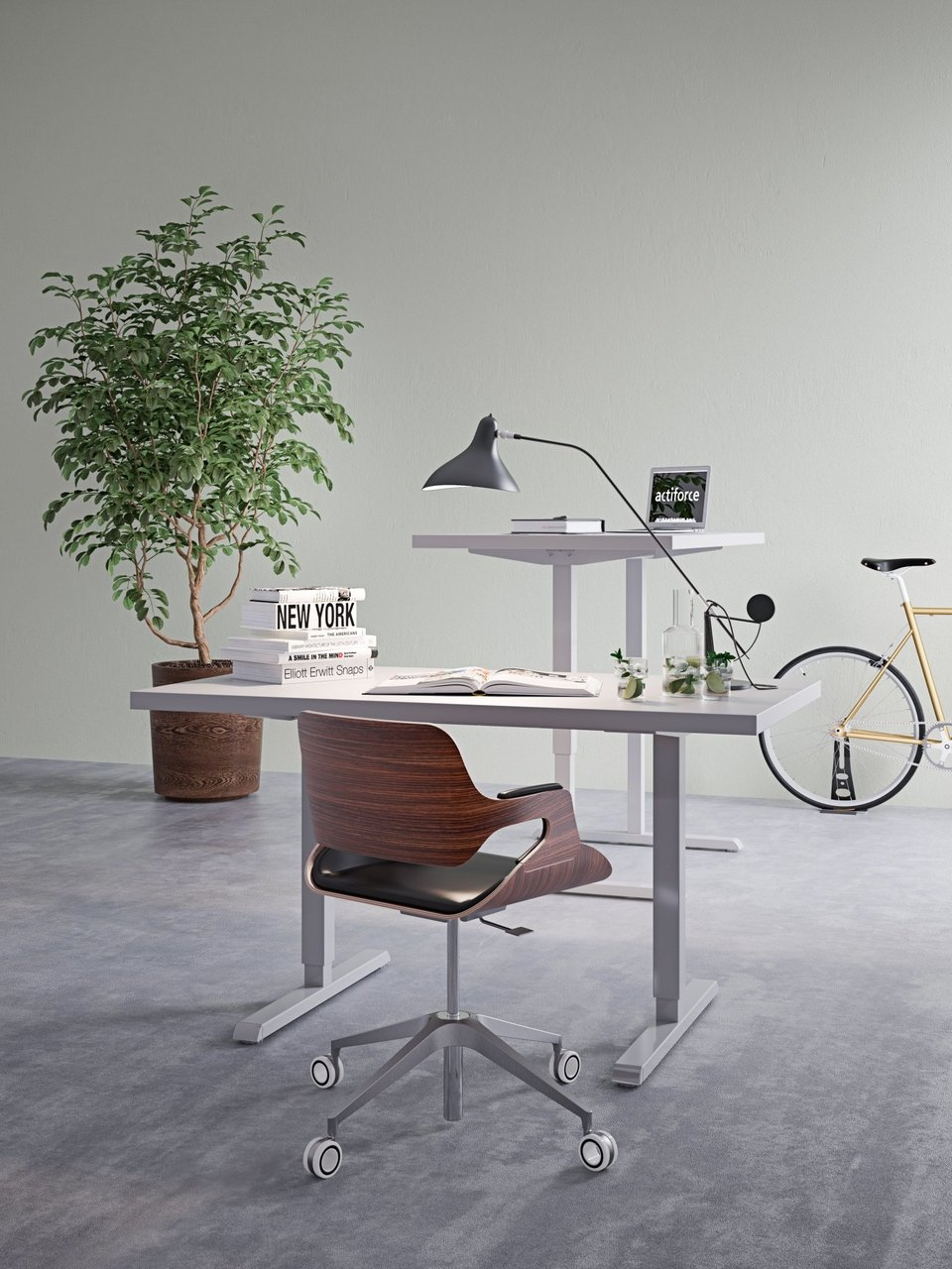 SteelForce 300 zit-sta bureau verstelbaar bureau