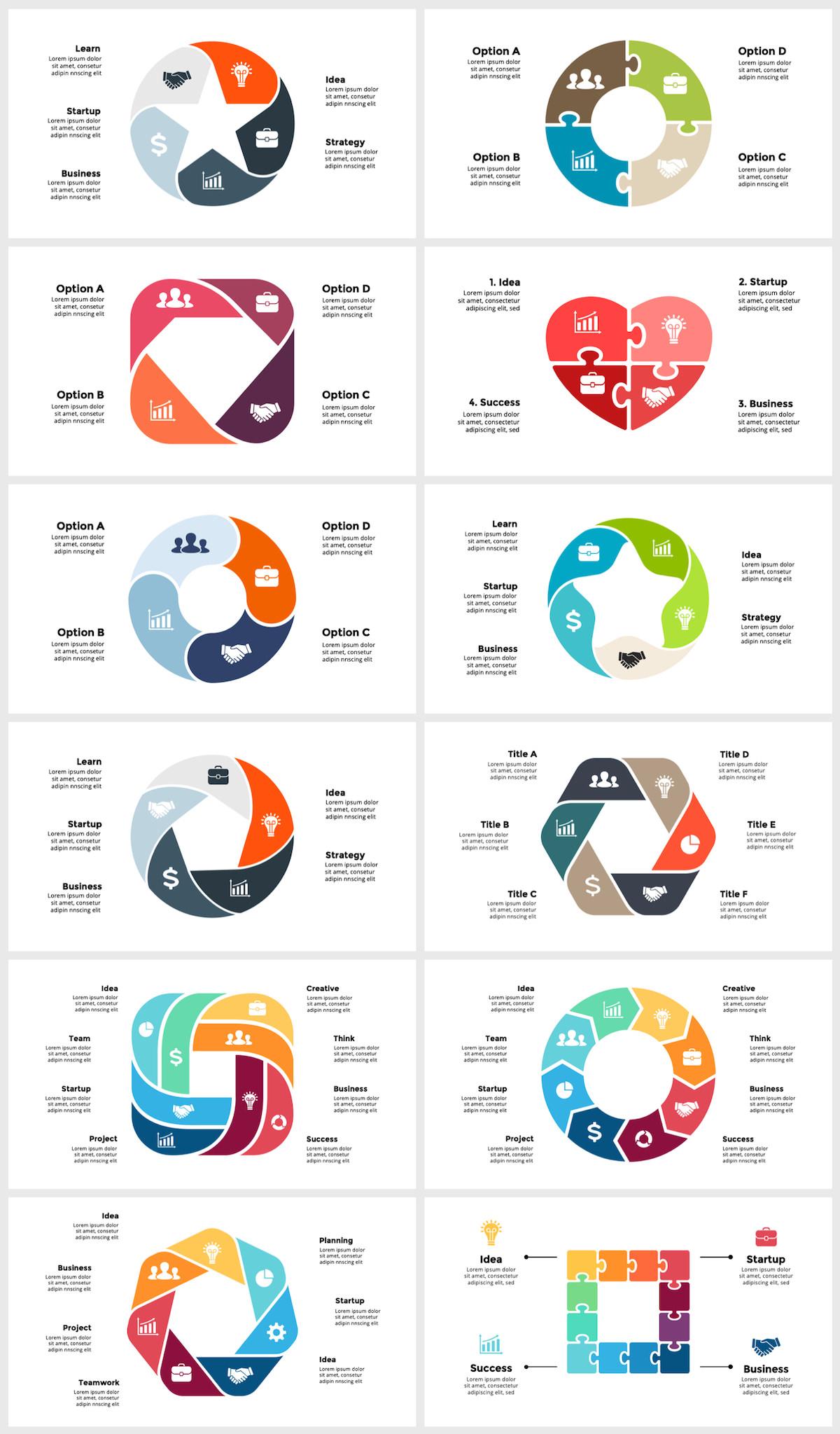 Huge Infographics Bundle! Lifetime Updates! PowerPoint, Photoshop, Illustrator. - 68
