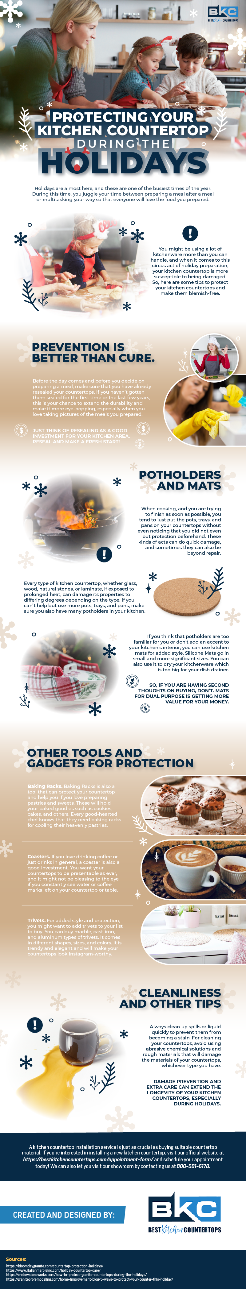 Protecting your Kitchen Countertop during the Holidays | California