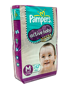 Pampers Diapers Active Baby Medium