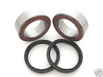 Aftermarket Double Row Rear Axle Bearings and Seals Kit LTZ400 LT-Z400 Twin Row 2003-2008