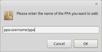 Enter name of the PPA you want to add
