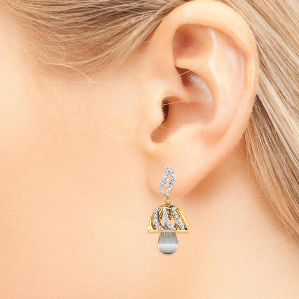 Ethereal Diamond Jhumkas