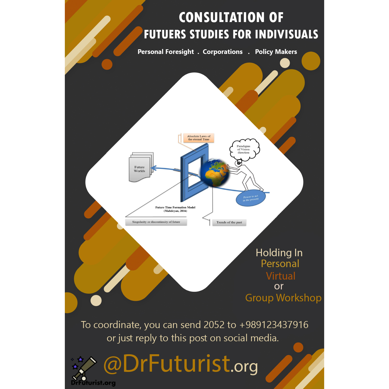 Consultation of Futures Studies for Individuals. Consultation of Personal Foresight, Corporations, Policy Makers