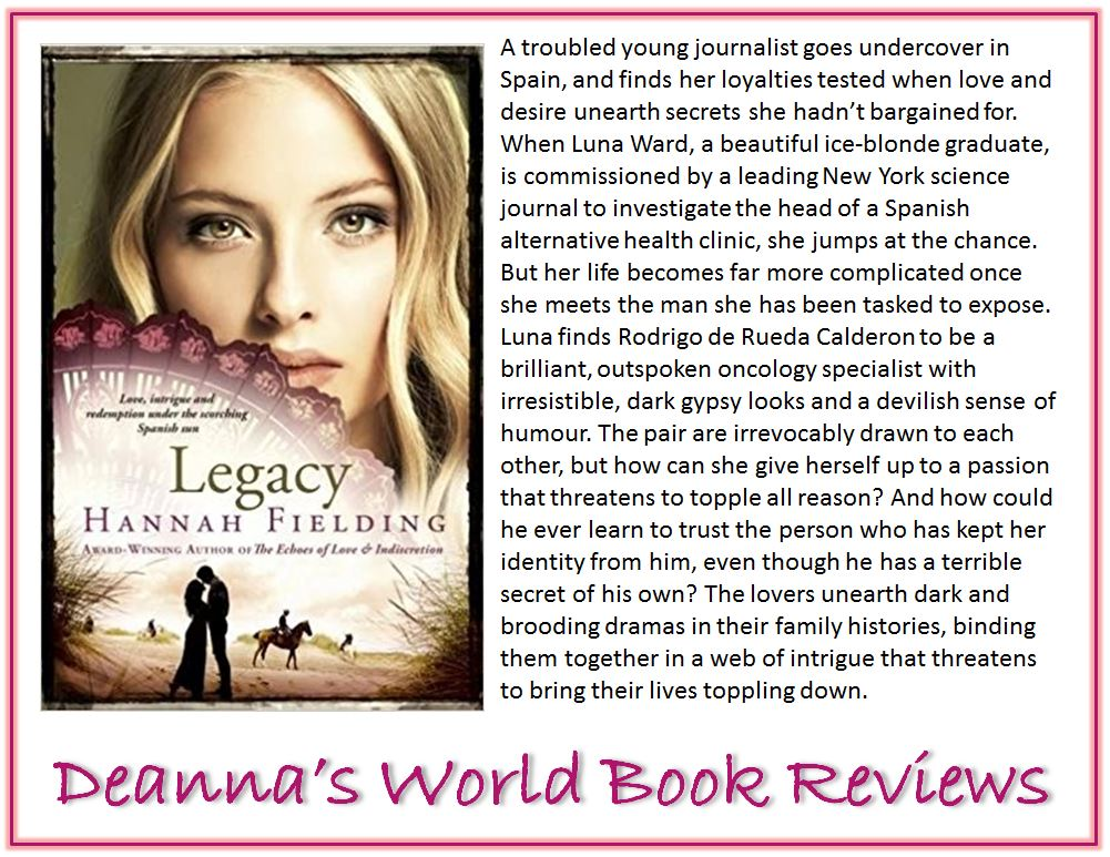 Legacy by Hannah Fielding blurb