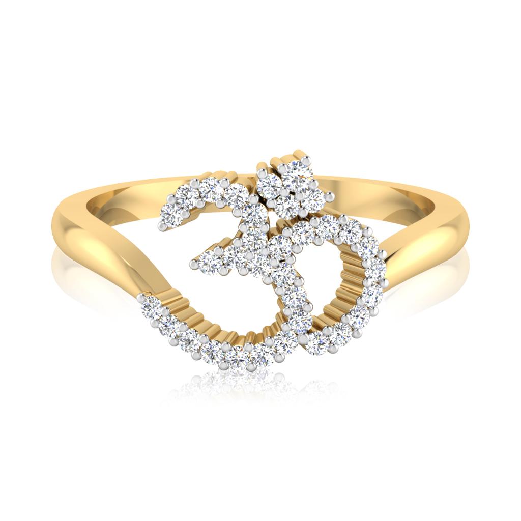 The Aum Divine Diamond Mens Ring