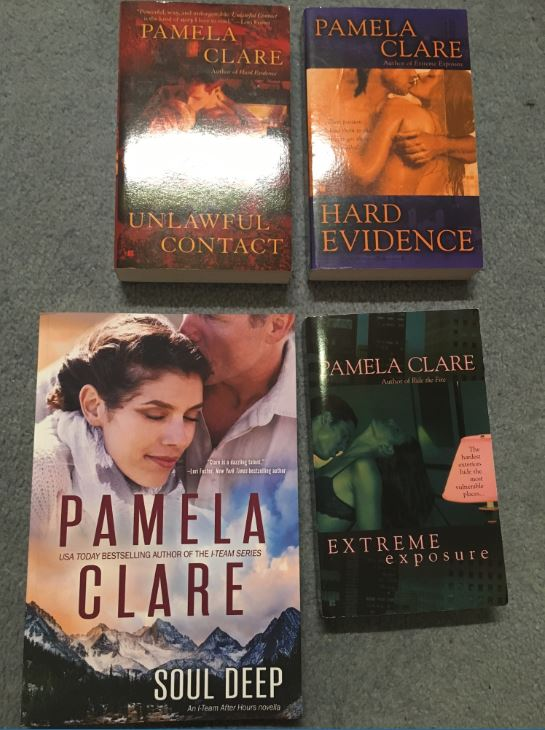 Pamela Clare book swag I-Team series