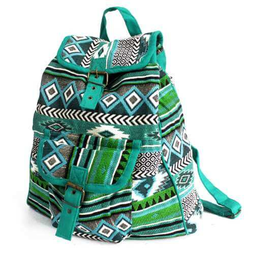 nepal style backpack - teal