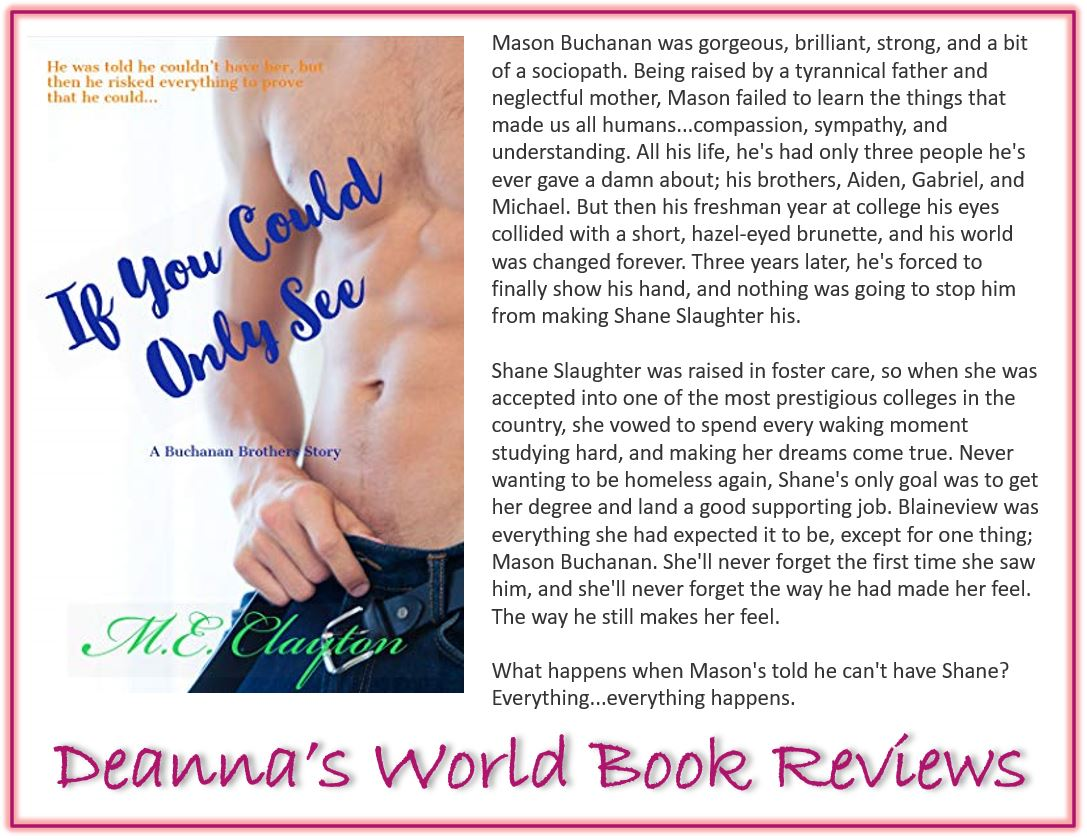 If You Could Only See by ME Clayton blurb