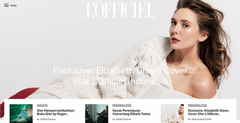 Website L'Officiel Indonesia New Look 2018