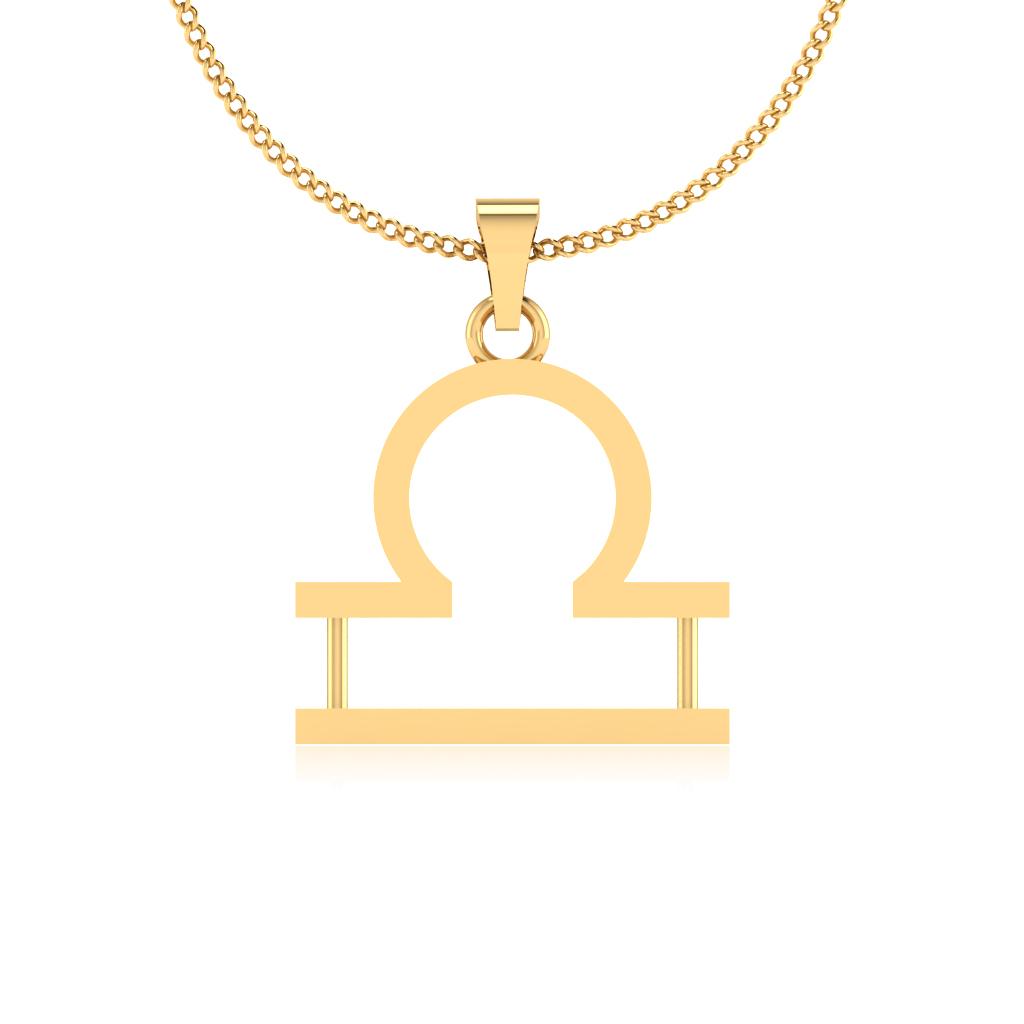 The Tula Rashi Gold Pendant
