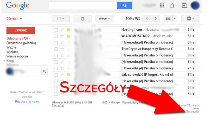 Jak zdalnie wylogować się z poczty Gmail - Szczegóły
