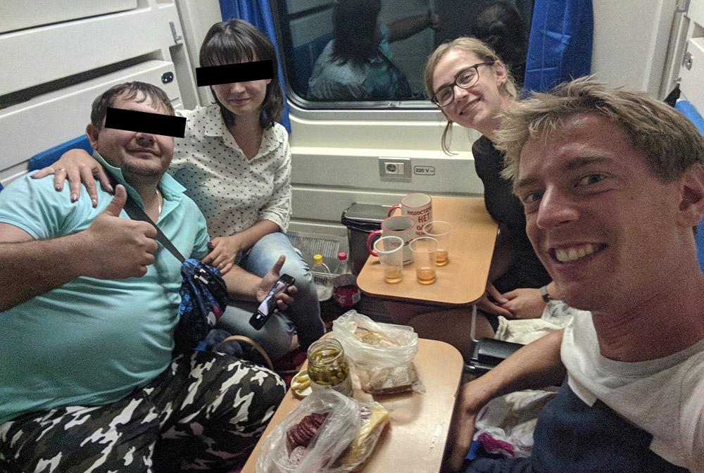feestje op de trein