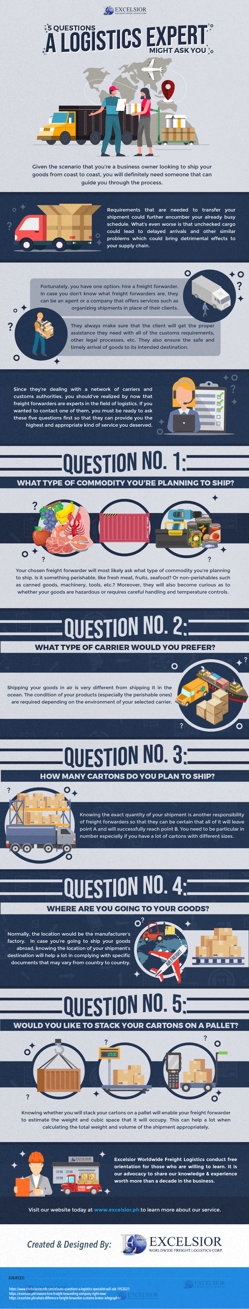 5 Questions a Logistics Expert Might Ask You - Infographic