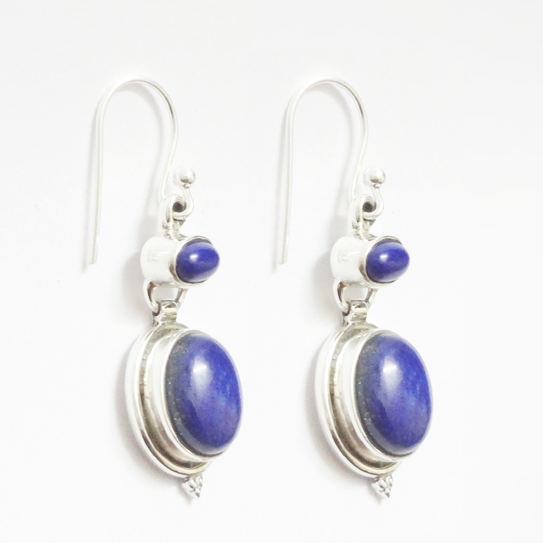 Handcrafted-Lapis-Lazuli-925-Sterling-Silver-Earrings-Jewelry-Mothers-Day-Gift thumbnail 3