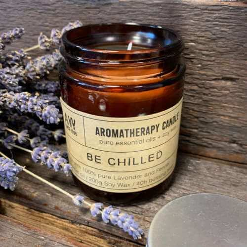 aromatherapy soy wax candle - be chilled
