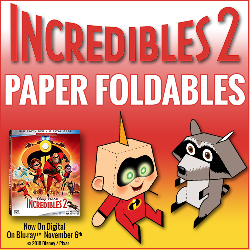 Incredibles2 BloggerButton Foldables See What We Thought of Incredibles 2 on Blu-ray + Snag Free Printables!