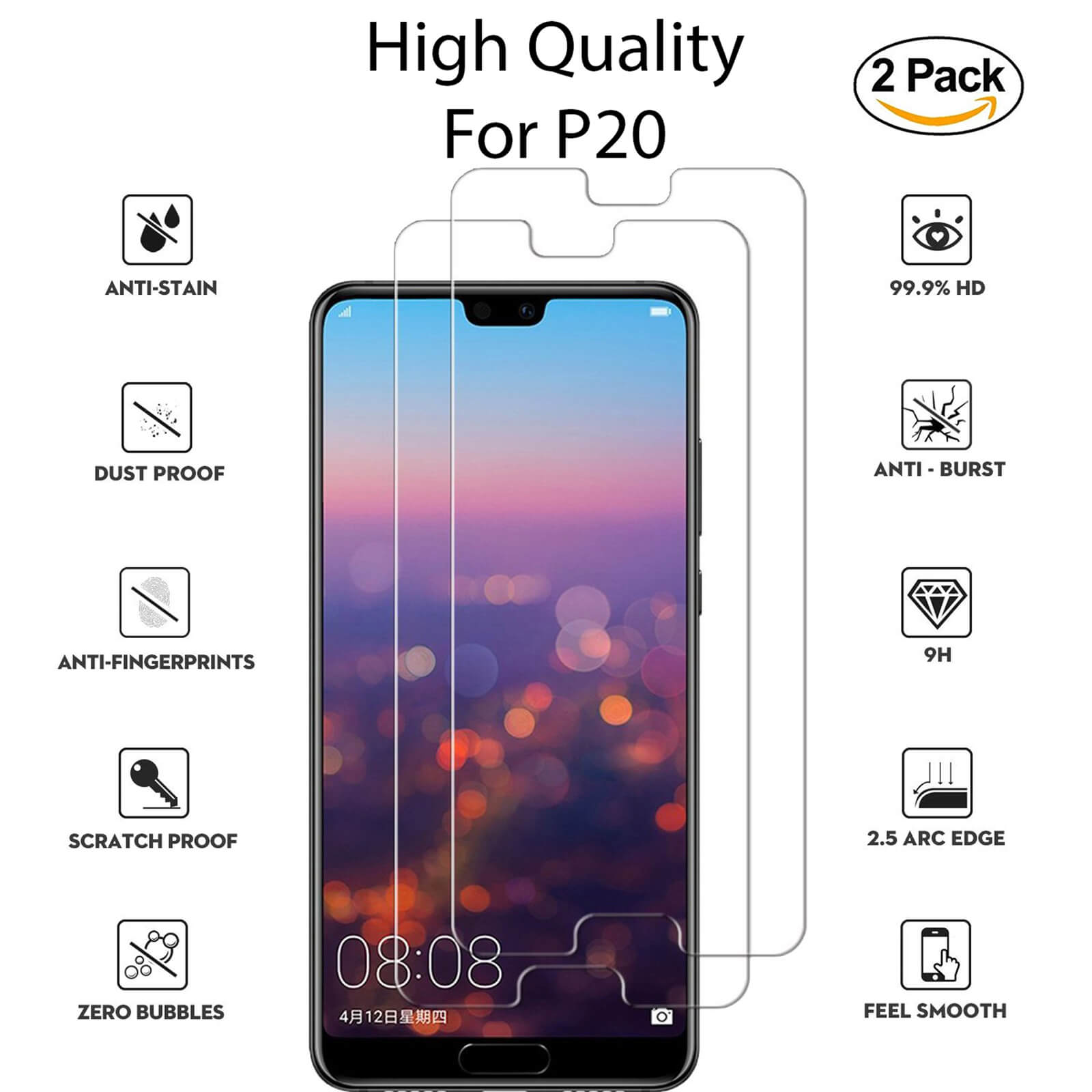 For-Huawei-Tempered-Glass-New-Full-Screen-Protector-Mate-20-P20-P30-Pro-Lite miniatura 85