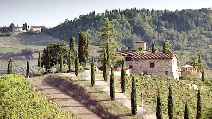 Typische toskanische Landschaft