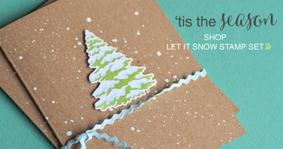 shop Snowfall Let it Snow Clear Stamp Set